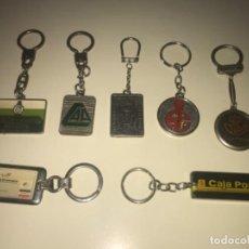 Colecionismo de porta-chaves: LOTE DE 7 LLAVEROS DE COLECCIÓN BANCOS Y CAJAS DE AHORROS ... ZKR. Lote 201985291