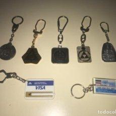 Colecionismo de porta-chaves: LOTE DE 7 LLAVEROS DE COLECCIÓN BANCOS Y CAJAS DE AHORROS ... ZKR. Lote 201985361