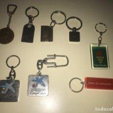 Colecionismo de porta-chaves: LOTE DE 8 LLAVEROS DE COLECCIÓN BANCOS Y CAJAS DE AHORROS ... ZKR. Lote 201985400