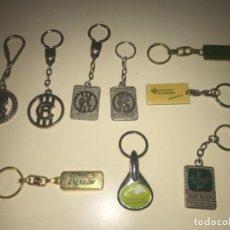 Colecionismo de porta-chaves: LOTE DE 9 LLAVEROS DE COLECCIÓN BANCOS Y CAJAS DE AHORROS ... ZKR. Lote 201985526