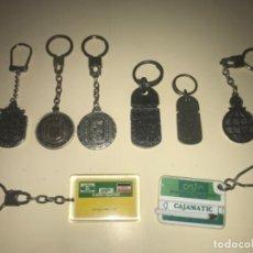 Colecionismo de porta-chaves: LOTE DE 8 LLAVEROS DE COLECCIÓN BANCOS Y CAJAS DE AHORROS ... ZKR. Lote 201985706