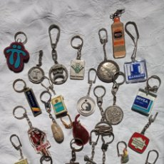 Coleccionismo de llaveros: LOTE 25 LLAVEROS COLECCIONABLES. VARIADOS.PUBLICIDAD.BANCOS.TABACO.COCHES.. Lote 202400347