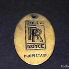 Coleccionismo de llaveros: PLACA - LLAVERO (ROLLS ROYCE) - PROPIETARIO. Lote 202878405