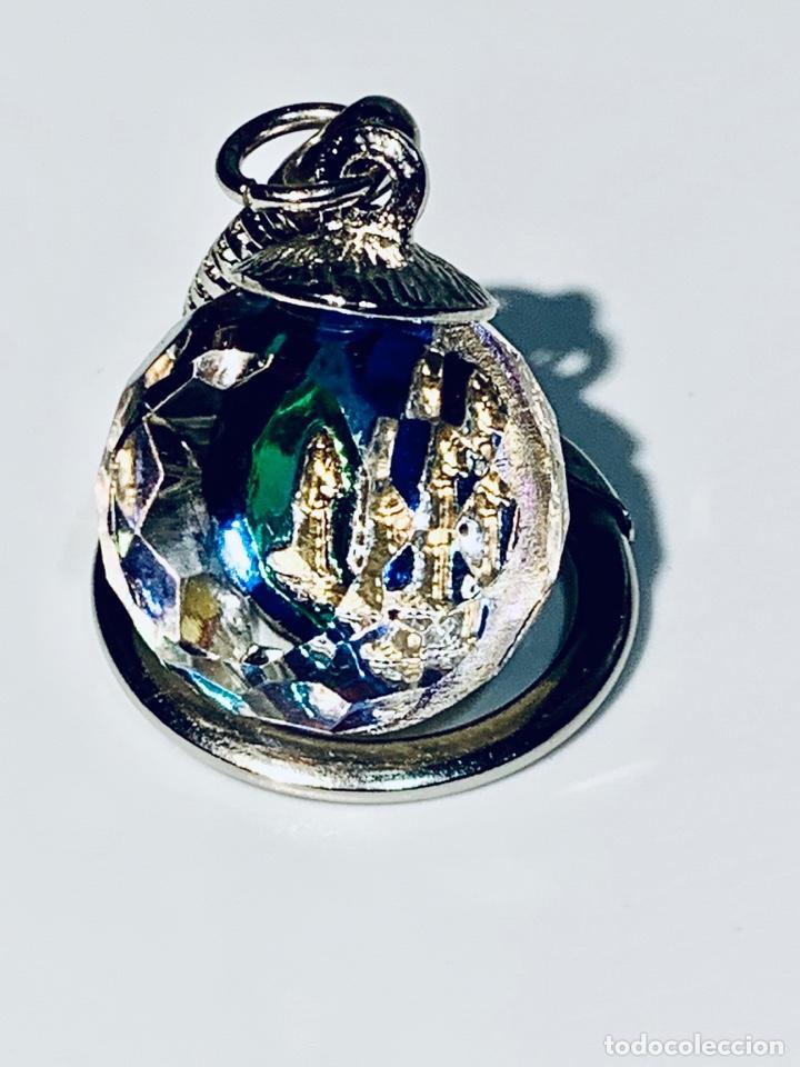 Coleccionismo de llaveros: Llavero Religioso Cristal Tallado Virgen de Lourdes y Bernardeta. Francia. Años 70. - Foto 8 - 204119018