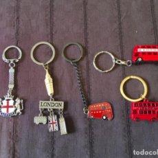 Colecionismo de porta-chaves: LOTE 5 LLAVEROS DE BUS LONDRES LONDON ... ZKR. Lote 204801437