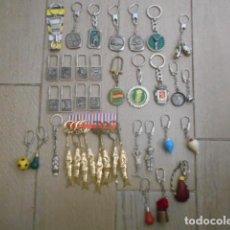 Coleccionismo de llaveros: 38 LLAVEROS ANTIGUOS METAL METAL Y PLÁSTICO. Lote 205024492