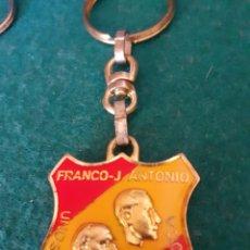 Coleccionismo de llaveros: LLAVERO FRANCO FALANGE DE LAS JONS JOSÉ ANTONIO PRIMO DE RIVERA EXCELENTE ESTADO . TRANSICION. Lote 205382215