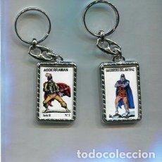 Coleccionismo de llaveros: LLAVERO EL GUERRERO DEL ANTIFAZ Y ABDERRAMAN. Lote 205887218