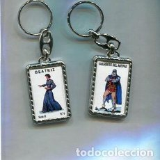 Coleccionismo de llaveros: LLAVERO EL GUERRERO DEL ANTIFAZ Y BEATRIZ. Lote 205887338