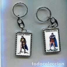 Coleccionismo de llaveros: LLAVERO EL GUERRERO DEL ANTIFAZ Y CONDE DE TORRES. Lote 205887347
