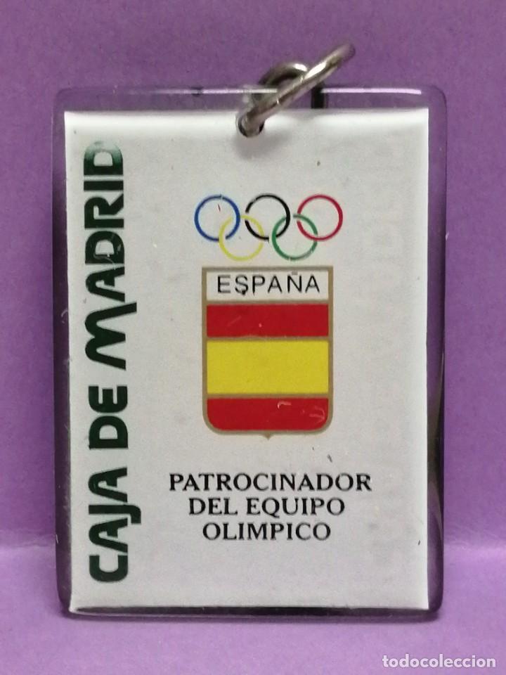 LLAVERO CAJA DE MADRID PATROCINADOR JUEGOS OLÍMPICOS DE METRAQUILATO (Coleccionismo - Llaveros)