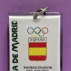 Coleccionismo de llaveros: LLAVERO CAJA DE MADRID PATROCINADOR JUEGOS OLÍMPICOS DE METRAQUILATO. Lote 206839768