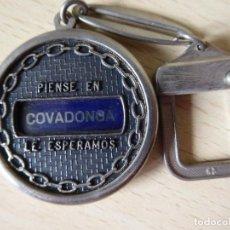 Collectionnisme de portes-clés: LLAVERO COVADONGA: PIENSE EN COVADONGA. LE ESPERAMOS. Lote 210123642