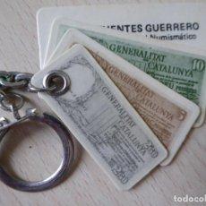 Collectionnisme de portes-clés: LLAVERO NUMISMÁTICA DIEGO FUENTES GUERRERO (BARCELONA), CON 3 BILLETES GENERALITAT DE CATALUÑA. Lote 210050428