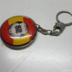 Colecionismo de porta-chaves: LLAVERO RECUERDO MUNDIAL DE FUTBOL ESPAÑA 82 REDONDO DE PEGASO 4 CMS. DIAMETRO. Lote 210699062