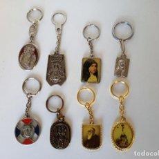 Coleccionismo de llaveros: LOTE DE LLAVEROS RELIGIOSOS. Lote 211572574
