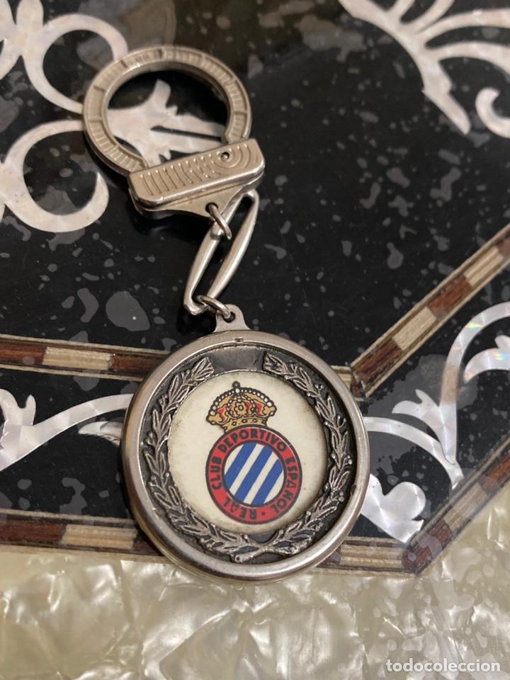 LLAVERO ANTIGUO REAL CLUB DEPORTIVO ESPAÑOL (Coleccionismo - Llaveros)
