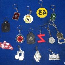 Collectionnisme de portes-clés: LOTE DE 14 LLAVEROS ANTIGUOS, PUBLICIDAD, REAL MADRID, ETC.... Lote 217948125