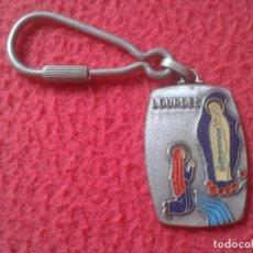 Coleccionismo de llaveros: ANTIGUO LLAVERO KEYRING KEYCHAIN PORTE-CLÉS LOURDES SANTUARIO RELIGIÓN VIRGEN VIRGIN FRANCE FRANCIA.. Lote 218808870