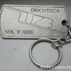 Collezionismo di Portachiavi: LLAVERO DE METAL DISCOTECA SOL Y AIRE, OLIAS DEL REY - TOLEDO - LLAV-11123 - B-274. Lote 220035985