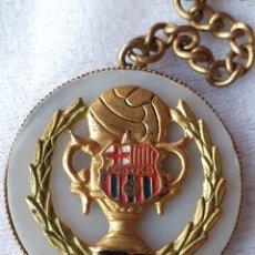 Coleccionismo de llaveros: LLAVERO BARÇA FUTBOL CLUB BARCELONA AÑOS 50 - ANTIGUO PIN MEDALLA INSIGNIA -. Lote 220788110