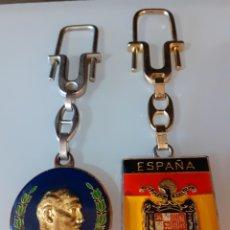 Coleccionismo de llaveros: LOTE LLAVEROS FRANCO FALANGE AUTÉNTICOS TRANSICIÓN AÑOS 70-80 CALIDAD. Lote 221442171