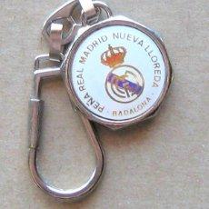 Coleccionismo de llaveros: LLAVERO REAL MADRID CF PEÑA MADRIDISTA NUEVA LLOREDA BADALONA FUTBOL METAL KEYRING KEY CHAIN R126. Lote 222124308