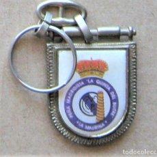 Coleccionismo de llaveros: LLAVERO REAL MADRID CF PEÑA LA QUINTA DEL BUITRE TERRASSA LA MAURINA METAL KEYRING KEY CHAIN R130. Lote 222124793