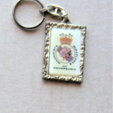 Coleccionismo de llaveros: LLAVERO REAL MADRID CF PEÑA MIRAFLORES DE LA SIERRA MADRIDISTA FUTBOL METAL KEYRING R133-R. Lote 222125346