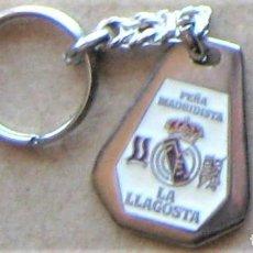 Coleccionismo de llaveros: LLAVERO REAL MADRID CF PEÑA MADRIDISTA LA LLAGOSTA GIRONA FUTBOL METAL KEYRING KEY CHAIN R137. Lote 222125746