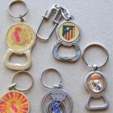 Coleccionismo de llaveros: LOTE 5 LLAVERO REAL MADRID CF + ABRIDOR BOTELLAS METAL KEYRING CHAVEIRO PORTE-CLES KEY CHAIN. Lote 222126411