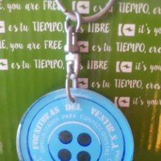 Coleccionismo de llaveros: LLAVERO BOTÓN. Lote 222858288