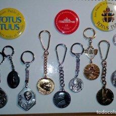 Coleccionismo de llaveros: MAGNIFICO LOTE DE JUAN PABLO II. Lote 223842792