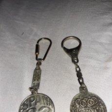 Colecionismo de porta-chaves: 2 ANTIGUO LLAVERO DEL MUNDIAL ESPAÑA 82 UNO DE IBERIA Y AGENTE ADUANERO LAS PALMAS. Lote 224796151