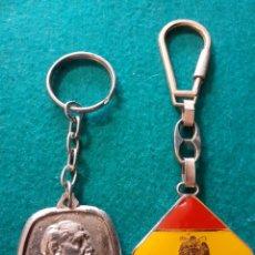 Coleccionismo de llaveros: LLAVEROS FRANCO FALANGE TRANSICIÓN AUTÉNTICAS. Lote 229501295