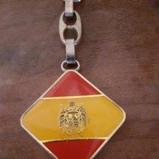 Coleccionismo de llaveros: LLAVERO FRANCO FALANGE AUTÉNTICO TRANSICION. Lote 230222175