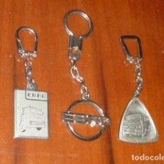 Coleccionismo de llaveros: LOTE ANTIGUOS LLAVEROS EBRO BUEN ESTADO. Lote 231033355