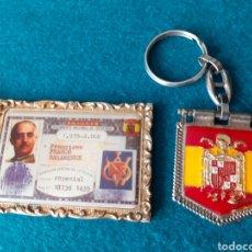Coleccionismo de llaveros: LOTE LLAVEROS FRANCO FRANCO FALANGE TRANSICIÓN AUTÉNTICOS. Lote 232135425