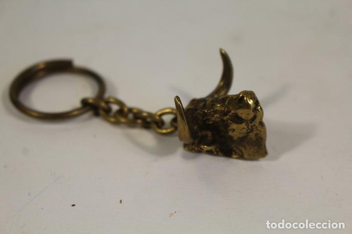 Coleccionismo de llaveros: llavero taurino de bronce, cabeza de toro - Foto 5 - 268863059