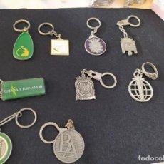 """Coleccionismo de llaveros: LOTE 9 LLAVEROS """"BANCOS"""". Lote 234890465"""