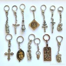 Colecionismo de porta-chaves: 13 LLAVEROS MOTIVOS RELIGIOSOS. Lote 234962035