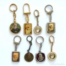Colecionismo de porta-chaves: 8 LLAVEROS DE FRAY LEOPOLDO DE ALPANDEIRE. Lote 234965595