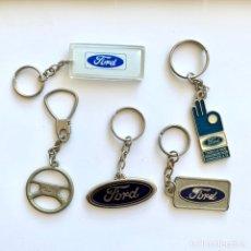 Colecionismo de porta-chaves: 5 LLAVEROS AUTOMÓVILES FORD. Lote 234971040