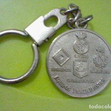 Coleccionismo de llaveros: 1982 BERNABEU IV TROFEO FUTBOL LLAVERO METAL R MADRID HAMBURG GIRONDINS B STANDARD LIEJA 3 CMS. Lote 235137750