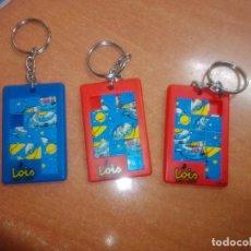 Colecionismo de porta-chaves: LOTE 3 LLAVEROS PUZZLE LOIS. Lote 236356070