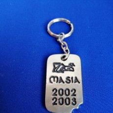 Coleccionismo de llaveros: DISCOTECA MASÍA 2002 - 2003 VALENCIA. Lote 236722825