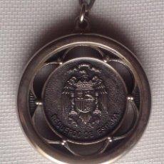 Coleccionismo de llaveros: ANTIGUO LLAVERO ESCUDO ÁGUILA Y MONEDA 5 DE PESETA. Lote 236926610