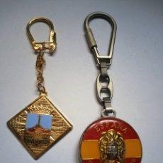 Coleccionismo de llaveros: LLAVERO FRANCO - ESPAÑA UNIDAD INDIVISIBLE + VALLE DE LOS CAÍDOS. Lote 215846781