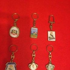 Coleccionismo de llaveros: 6 LLAVEROS DEL MADRID LICENCIA OFICIAL . AÑOS 90. SIN ESTRENAR .. Lote 244512535