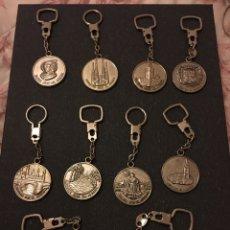 Coleccionismo de llaveros: ESPECTACULAR LOTE 11 LLAVEROS SEDES DEL MUNDIAL ESPAÑA 82. Lote 245734390